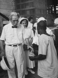 Dr. Albert Schweitzer on His 90th Birthday Premium Photographic Print by George Silk