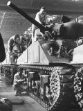 Sherman M4 Tank on Assembly at a Chrysler Plant Premium Photographic Print by Andreas Feininger