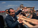 Presidential Candidate Richard Nixon on the Campaign Trail Premium Photographic Print by Arthur Schatz