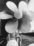 Twin Screw Propeller of New Cunard Liner 'Queen Elizabeth II' Premium Photographic Print by Terence Spencer