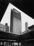 Construction of Modern Steel and Glass Seagram's Office Building on Park Avenue Photographic Print by Frank Scherschel