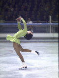 Figure Skater Peggy Fleming Competing in the Olympics Premium fotoprint van Art Rickerby