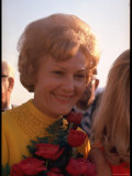 Pat Nixon, Wife of President Candidate Richard Nixon, on the Campaign Trail Premium Photographic Print by Arthur Schatz