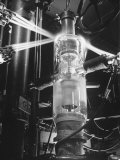 Mercury Vapor Tubes Being Made at a General Electric Plant Premium Photographic Print by Andreas Feininger