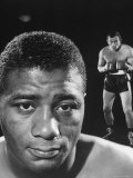 Boxers Floyd Patterson and Ingemar Johansson Before a Title Bout Premium Photographic Print by George Silk