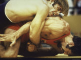 US Wrestler and Eventual Gold Medal Winner Wayne Wells at Olympics,1972 Premium fototryk af Co Rentmeester