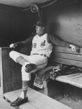 Pitcher for Cleveland Indians, Sam McDowell Sitting in Dugout Premium Photographic Print by Art Rickerby