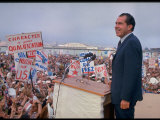 Presidential Candidate Richard Nixon on the Campaign Trail Photographic Print by Arthur Schatz
