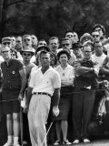Arnold Palmer After Winning the Masters Tournament Fototryk i høj kvalitet af George Silk