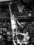 Basketball Player Jerry Lucas Dunking the Ball Premium Photographic Print by George Silk
