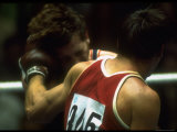 US Athlete Duane Bobick with Unidentified Boxer at the Summer Olympics Premium Photographic Print by Co Rentmeester