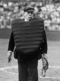 Umpire Bill Summers Glaring Toward Cleveland Indians Dugout Premium Photographic Print by George Silk