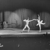Margot Fonteyn and Rudolf Nureyev Performing at Pres. Lyndon B. Johnson's Inaugural Gala Metal Print by Francis Miller