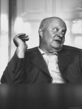 Composer Paul Hindemith Sitting in an Unidentified Office Reprodukcja zdjęcia premium autor Michael Rougier