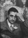Dr. Edward Teller Slumped in Chair After Speech at Conference Hall Premium Photographic Print by Paul Schutzer