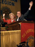 Presidential Candidate Ricard Nixon with Wife Pat During a Campaign Event at the American Legion Premium Photographic Print by Arthur Schatz