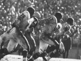 Game Between the Baltimore Colts Vs. the Chicago Bears Premium Photographic Print by George Silk