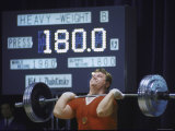 Soviet Weightlifter Leonid Zhabotinsky in Action at the Summer Olympics Premium Photographic Print by Art Rickerby