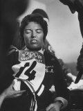 Skier, Linda Meyers During Winter Olympics Premium Photographic Print by George Silk