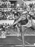 US Shot Putter, Parry O'Brien During Olympic Finals, He Took Second Place and Silver Medal Premium Photographic Print by George Silk
