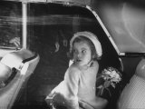 Daughter of John F. Kennedy, Caroline Kennedy Arriving in Florida with Her Father Premium Photographic Print by Lynn Pelham