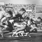 German Armin Harry During Men's 100 Meter Dash Event in Olympics Premium Photographic Print by George Silk