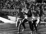Russian Runner, Irina Press with Us Sprinter Wilma Rudolph in Women's Relay Race at Olympics Premium Photographic Print by George Silk