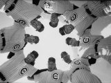Chicago Cubs' Eight Coaches Premium Photographic Print by Francis Miller