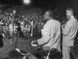 Jazz Trumpeter Louis Armstrong During a Performance Reprodukcja zdjęcia premium autor Gordon Parks