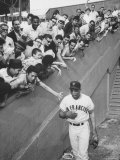 Fans Welcoming Giants Star Willie Mays at Polo Grounds Premium Photographic Print by Art Rickerby