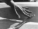 Hands of Sculptor Barbara Hepworth, in Her Studio Premium Photographic Print by Paul Schutzer