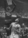 Basketball Player Wilt Chamberlain Premium Photographic Print by George Silk