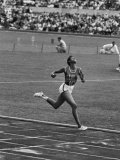 US Sprinter, Wilma Rudolph, Winning Women's 100 Meter Dash in Olympics Premium Photographic Print by George Silk