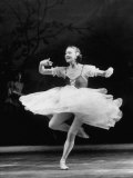 Soviet Ballerina Galina Ulanova Dancing in Title Roll of Ballet &quot;Giselle&quot; at the Bolshoi Theater Premium Photographic Print by Howard Sochurek