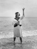 Opera Singer Birgit Nilsson Vacationing Premium Photographic Print by Lynn Pelham