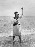 Opera Singer Birgit Nilsson Vacationing Premium Photographic Print by Lynn Pelham