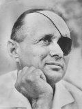 Israeli Defense Minister Moshe Dayan Premium Photographic Print by Paul Schutzer