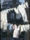 Laundry on Line in Slum Area in New York City Premium Photographic Print by Vernon Merritt III