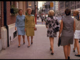 Pat Nixon, Wife of President Candidate Richard Nixon, Walking Down the Street with a Friend Premium Photographic Print by Arthur Schatz