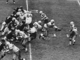 The Green Bay Packers Playing a Game Premium Photographic Print by George Silk