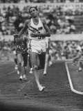 Australian Herb Elliot, During Men's 1500 Meter Race, Which He Won, at Olympics Premium Photographic Print by George Silk