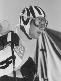 Skier, Heidi Biebl During the Winter Olympics Premium Photographic Print by George Silk
