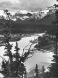 Scenery Along Columbia Icefields Highway in Canadian Rockies between Banff and Jasper Photographic Print by Andreas Feininger