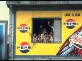 Large Billboard Painted on Side of Building Advertising Pepsi Cola, Manila, Philippines Photographic Print by Arthur Schatz