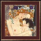 Mother and Child (detail from The Three Ages of Woman), c.1905 Print by Gustav Klimt