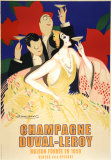 Champagne Duval Leroy Prints by Achille Luciano Mauzan