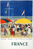 Normandie-Deauville, Le Bar du Soleil Collectable Print by Kees van Dongen