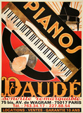 Pianos Daude - Reissue Collectable Print by Andre Daude