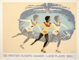 Lake Placid 1980 Figure Skater Collectable Print by  Wheeler