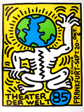 Theater Der Welt - Haring Vert Lmina coleccionable por Keith Haring